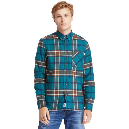 Back River Heavy Flannel Shirt for Men in Teal | Timberland