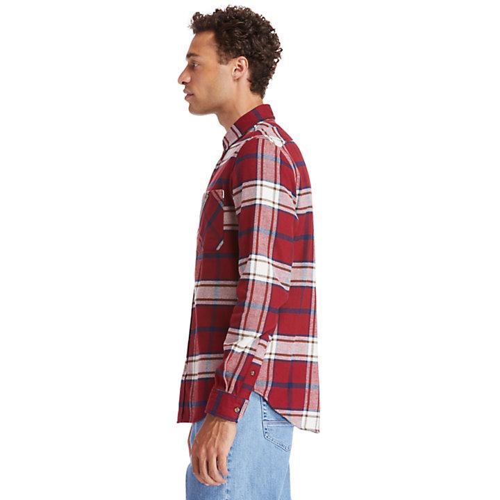 Back River schweres Flanellhemd für Herren in Rot-