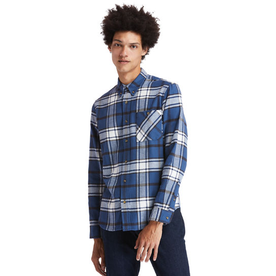 Back River Heavy Flannel Shirt for Men in Blue | Timberland