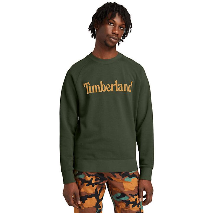 Jersey de Cuello Redondo con Logo Heritage de Timberland® para Hombre en verde-