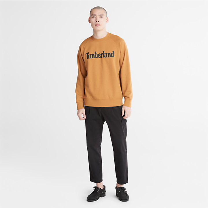 Sweat-shirt à logo Timberland® Heritage pour homme en jaune-