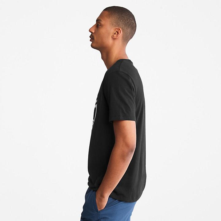 T-shirt da Uomo con Logo ad Albero in colore nero-