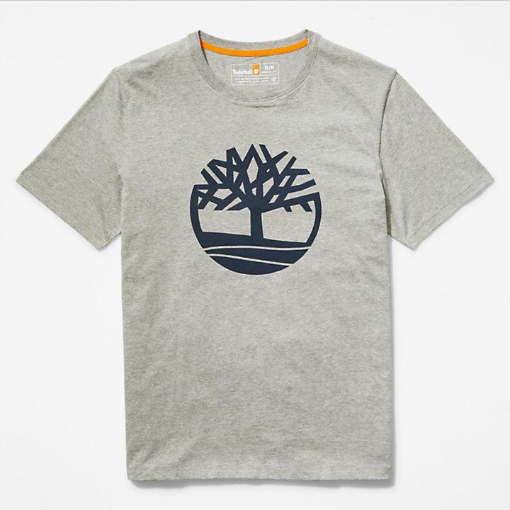 Tree Logo T-Shirt for Men in Grey-