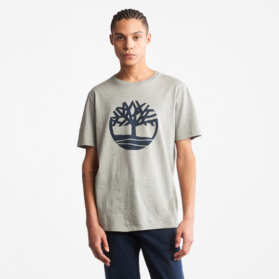 Tree Logo T-Shirt for Men in Grey | Timberland