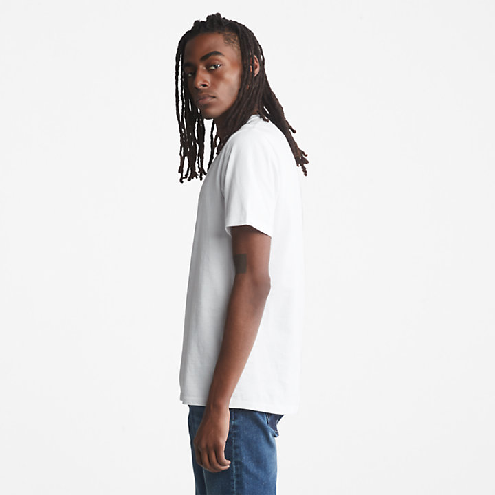 Tree Logo T-Shirt for Men in White-