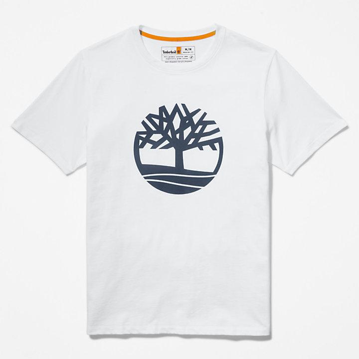 Camiseta con Logotipo del Árbol para Hombre en blanco-