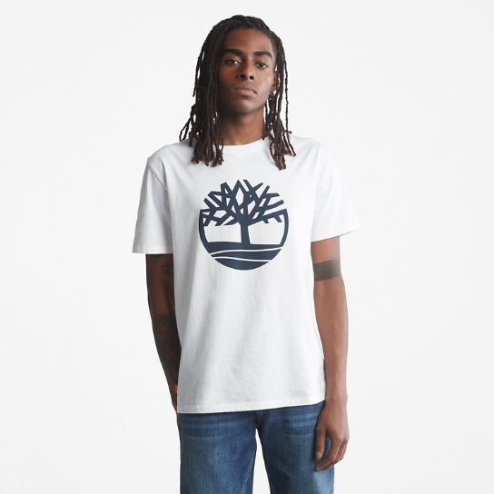 Tree Logo T-Shirt for Men in White | Timberland