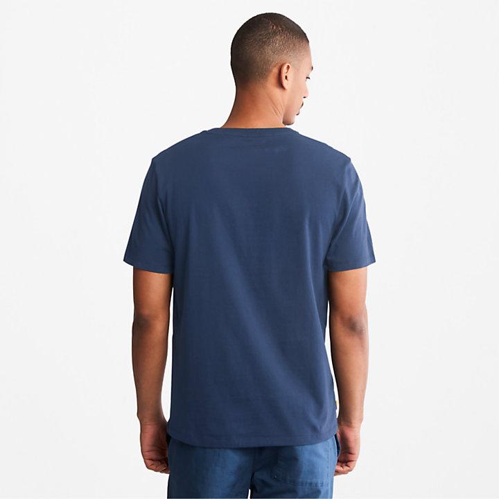 T-shirt da Uomo con Logo ad Albero in blu-