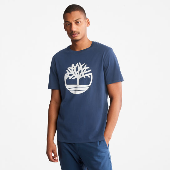 Tree Logo T-Shirt for Men in Blue | Timberland