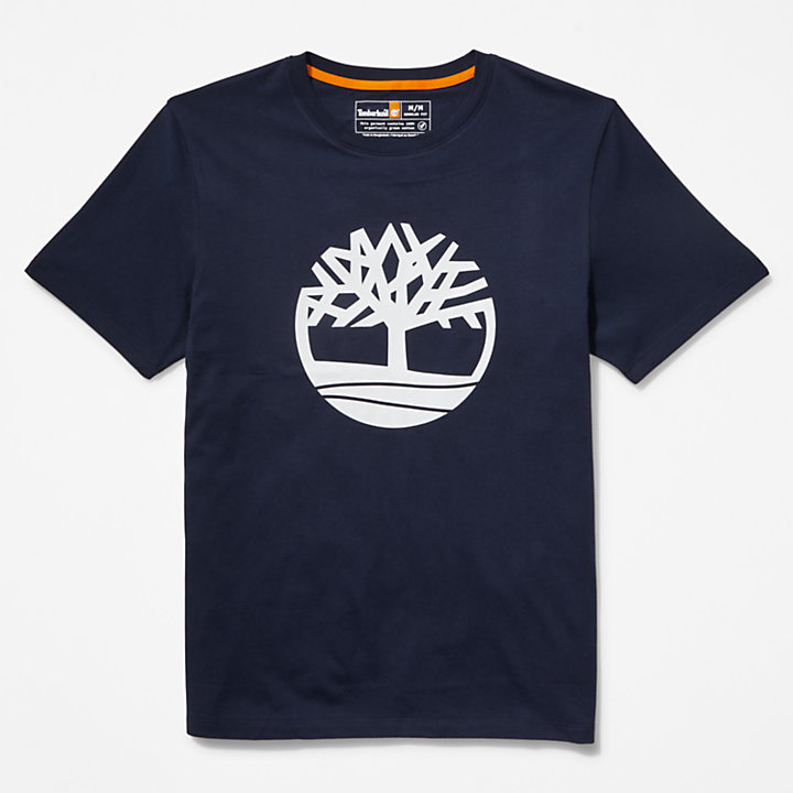 Tree Logo T-Shirt for Men in Navy-