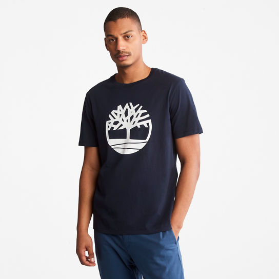 Tree Logo T-Shirt for Men in Navy | Timberland