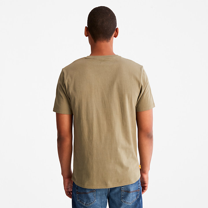 Tree Logo T-Shirt for Men in Green-