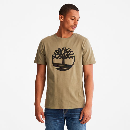Tree Logo T-Shirt for Men in Green | Timberland
