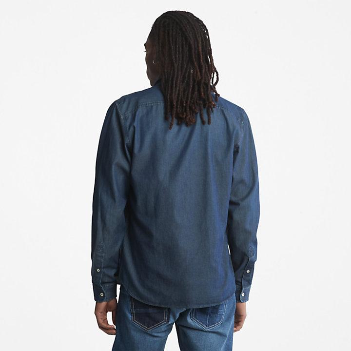 Camisa Vaquera de Manga Larga Merrimack River para Hombre en azul-