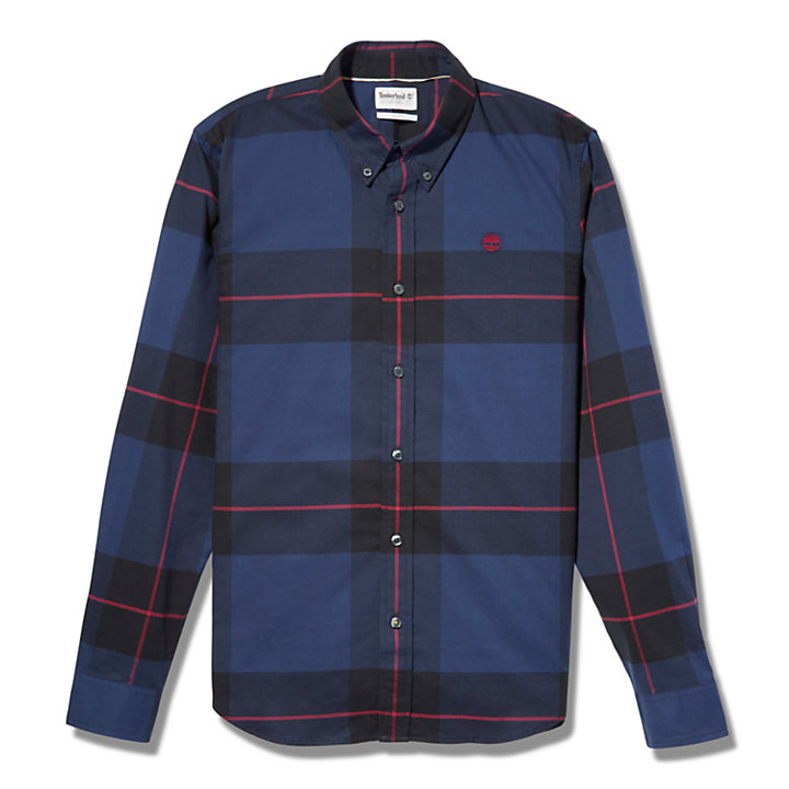 Back River Organic Cotton Shirt for Men in Navy-