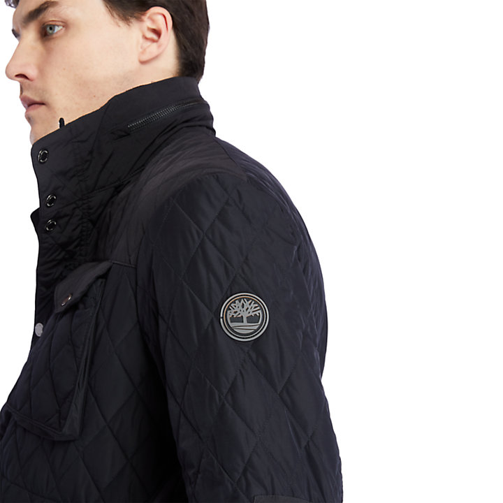Mount Crawford Quilted M65 Jacket for Men in Black-