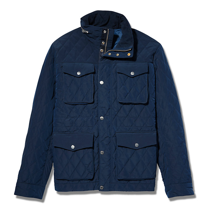 Mount Crawford Quilted M65 Jacket for Men in Navy-
