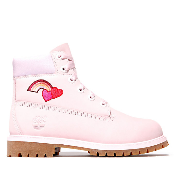 6 Inch Premium Boot for Junior in Light Pink-