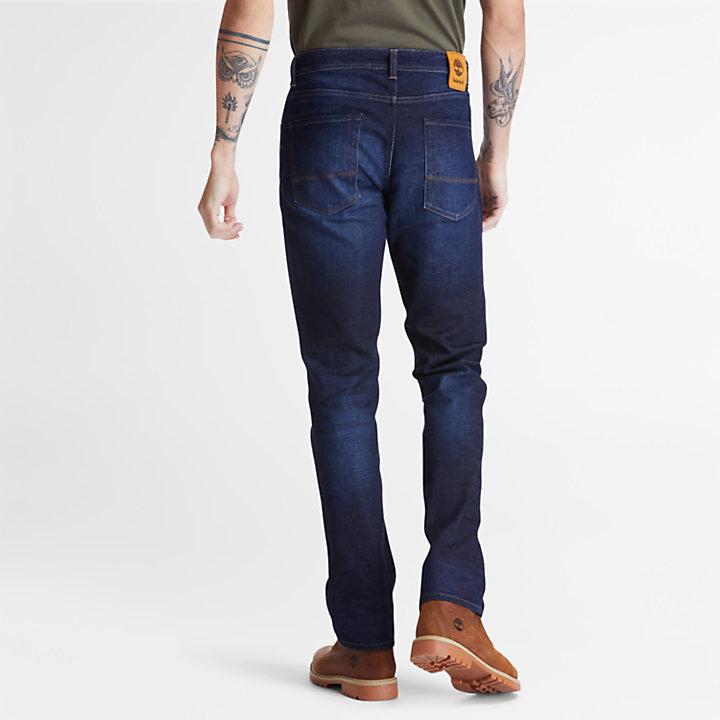 Squam Lake Stretch Jeans for Men in Dark Blue-
