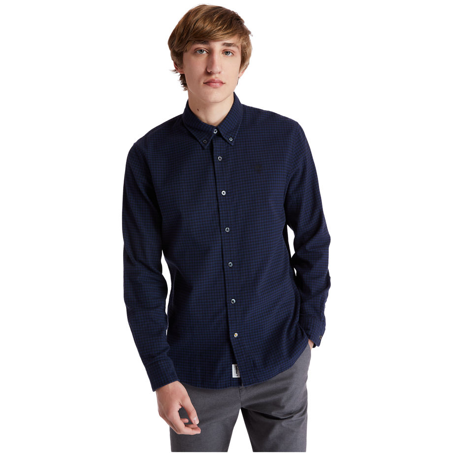 Timberland Mascoma River Flannel Shirt For Men In Navy Navy, Size L
