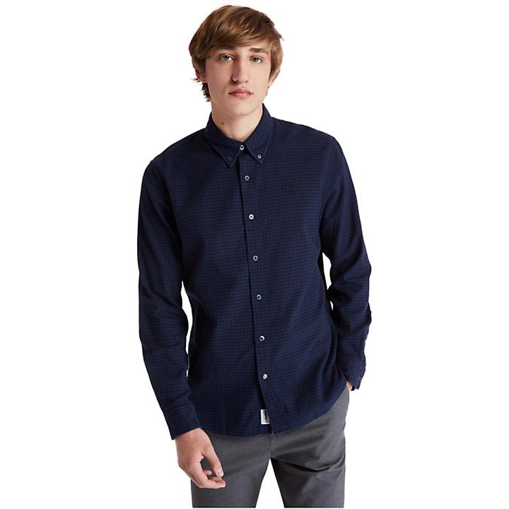 Camicia da Uomo in Flanella Mascoma River in blu marino-