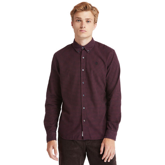 Mascoma River Flannel Shirt for Men in Burgundy | Timberland
