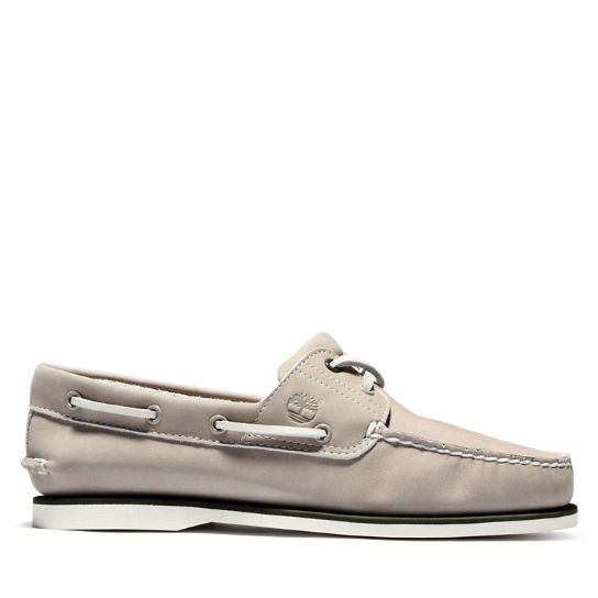 Classic Nubuck Boat Shoe for Men in Light Beige | Timberland