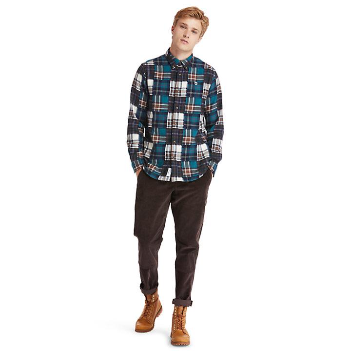 Back River Patchwork Shirt for Men in Multicoloured-