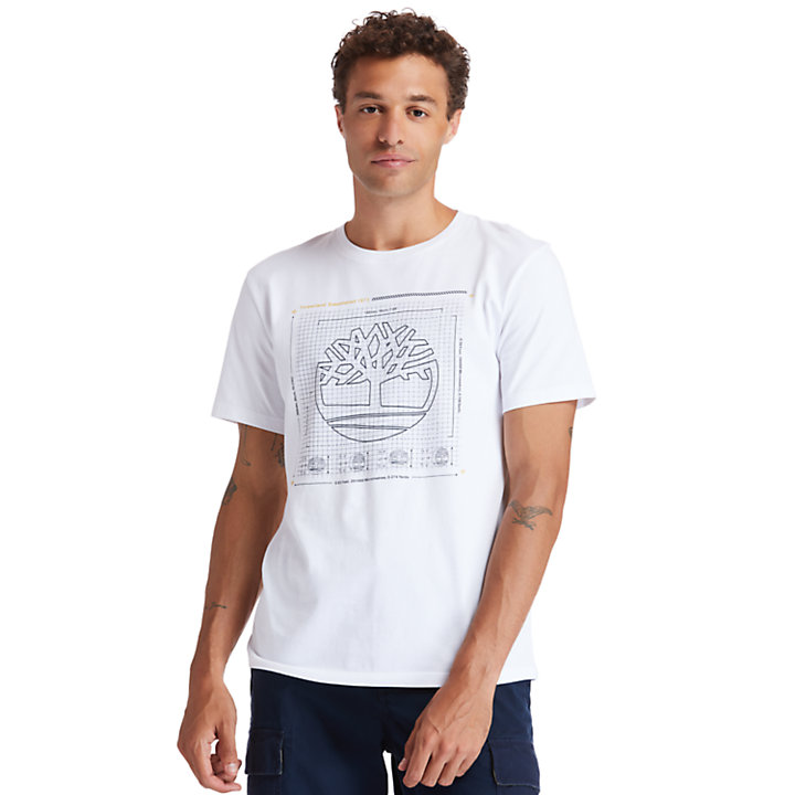 Kennebec River Puff-effect T-Shirt for Men in White-