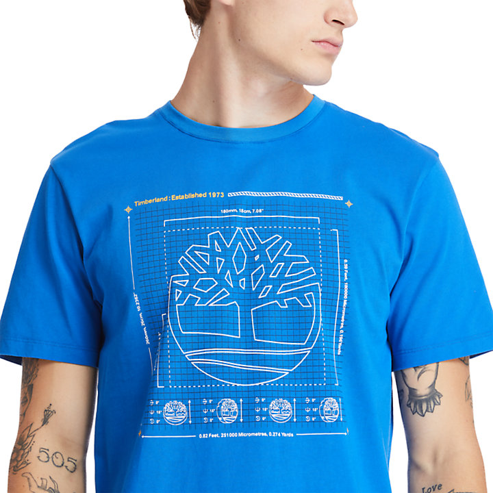 Kennebec River Puff-effect T-Shirt for Men in Blue-