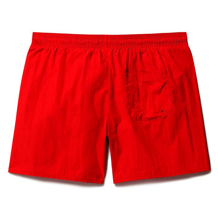 Short de bain Sunapee Lake Solid pour homme en rouge-