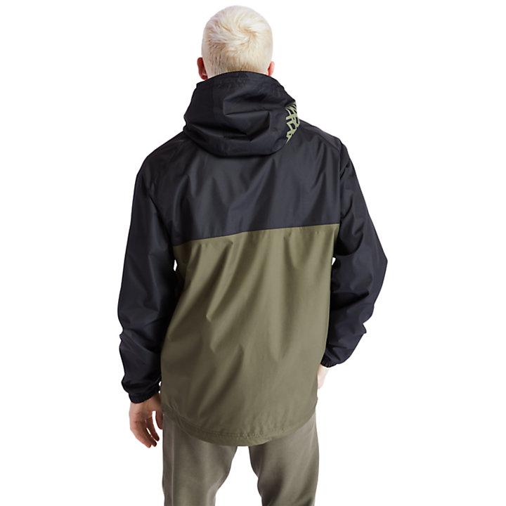 Chaqueta con capucha impermeable para Hombre en verde-
