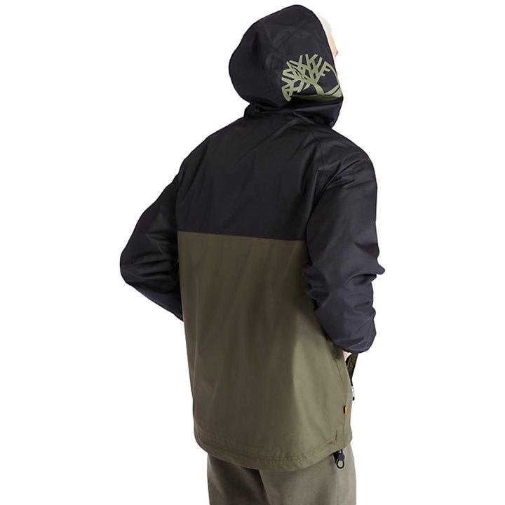 Waterproof Hooded Shell Jacket for Men in Green-