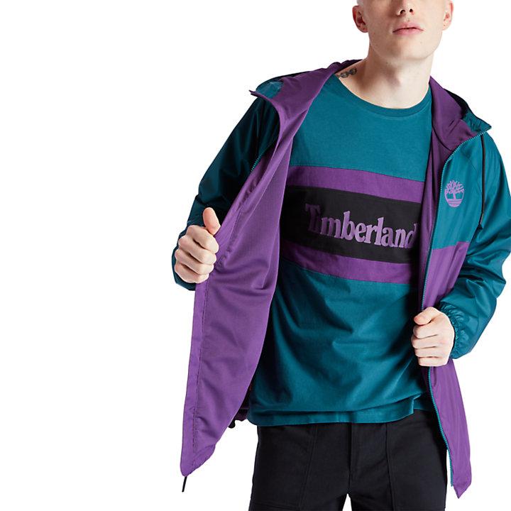 Waterproof Hooded Shell Jacket for Men in Purple-