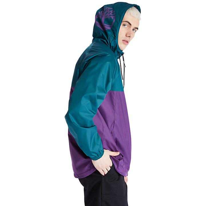 Wasserdichte Shell-Jacke mit Kapuze für Herren in Violett-