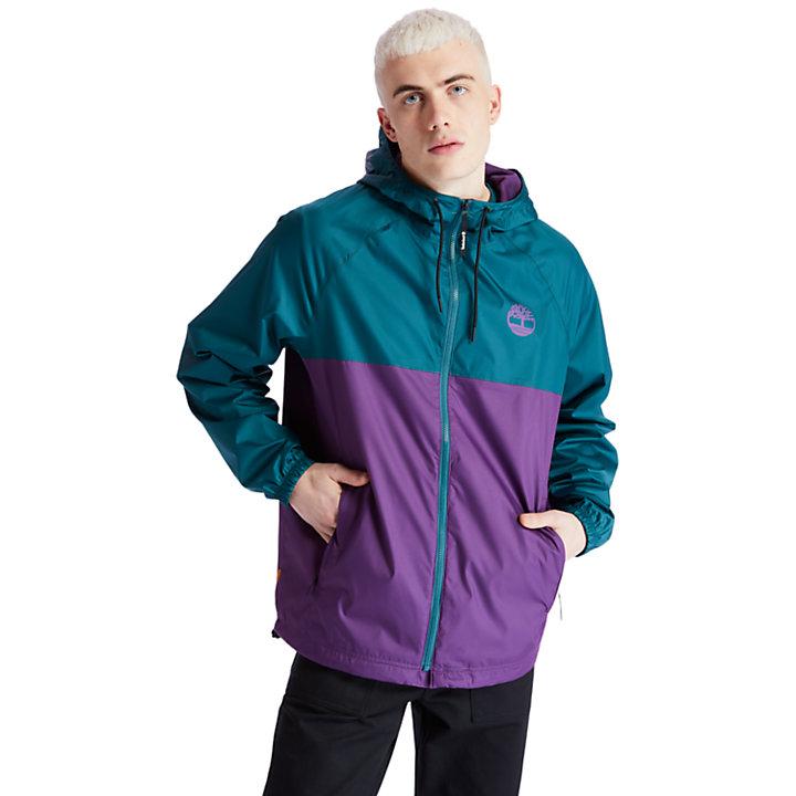 Veste à capuche imperméable pour homme en violet-