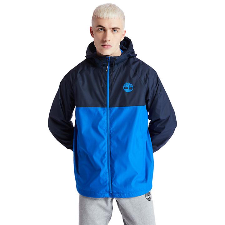 Giacca Guscio da Uomo Impermeabile con Cappuccio in blu marino-