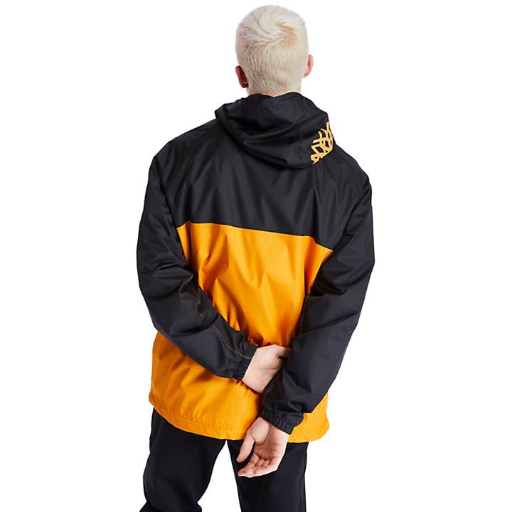 Waterproof Hooded Shell Jacket for Men in Orange-