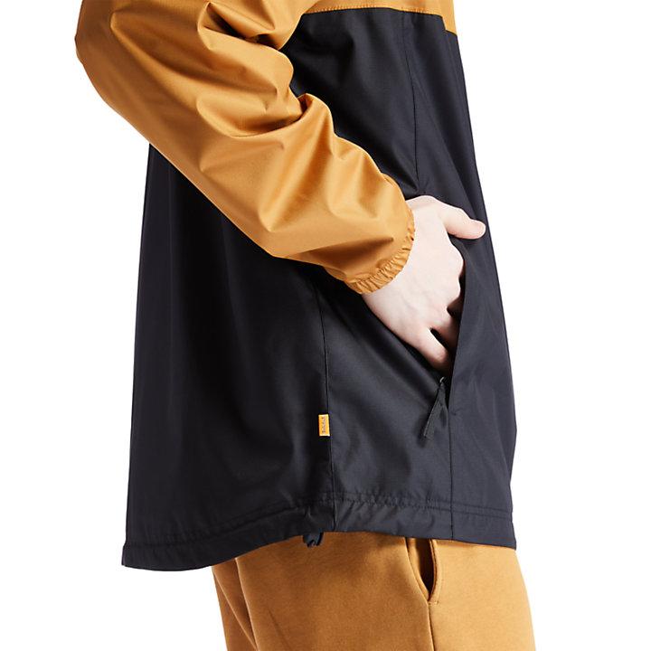 Waterproof Hooded Shell Jacket for Men in Yellow-