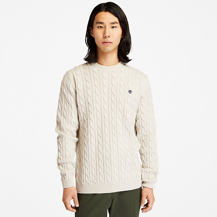 Phillips Brook Cable-knit Sweater for Men in White-
