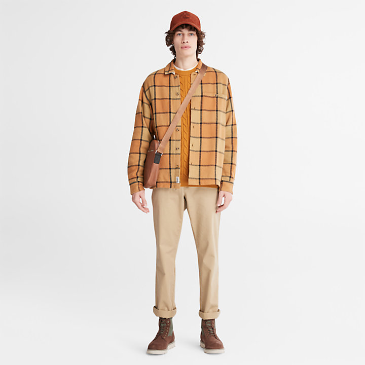 Phillips Brook Cable Sweater for Men in Yellow-