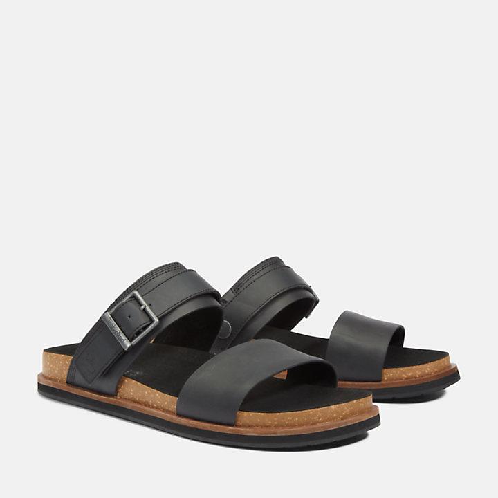 Sandalo a Due Fasce da Uomo Amalfi Vibes in colore nero-