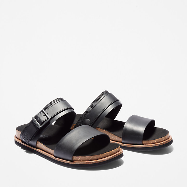 Sandalia de 2 Tiras Amalfi Vibes para Hombre en color negro-
