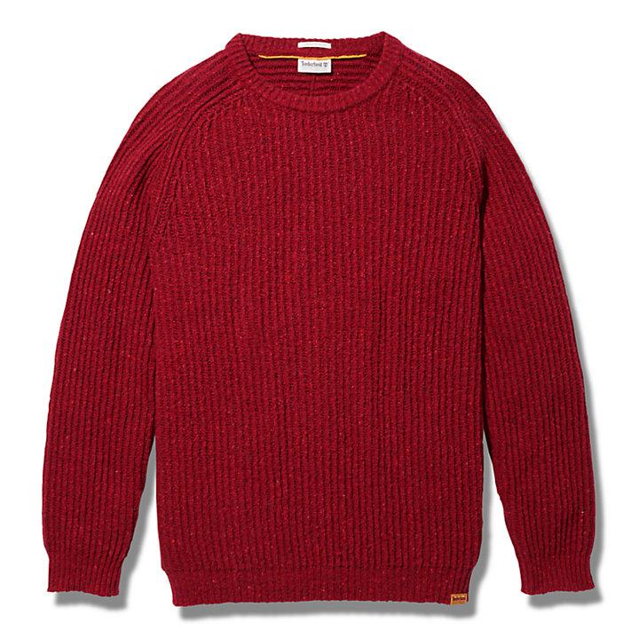 Jersey de Punto Trenzado Phillips Brook Fisherman para Hombre en rojo-