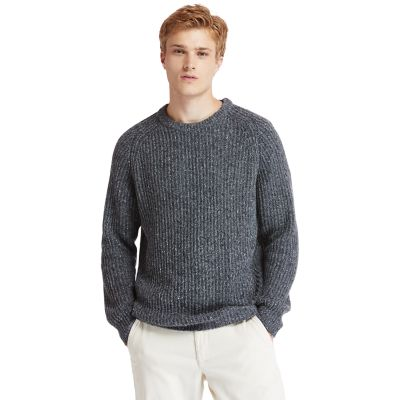 Phillips+Brook+Fisherman+Ribbed+Sweater+for+Men+in+Grey