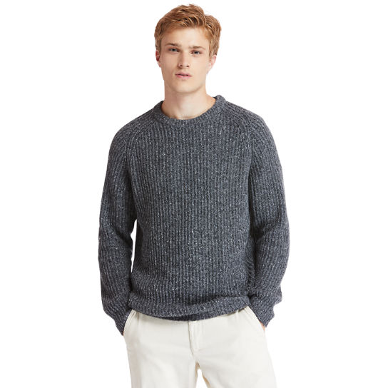 Phillips Brook Fisherman Ribbed Sweater for Men in Grey | Timberland