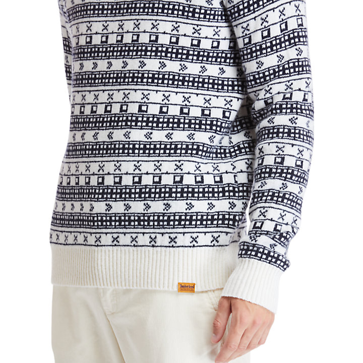 Fair Isle Sweater for Men in Beige-