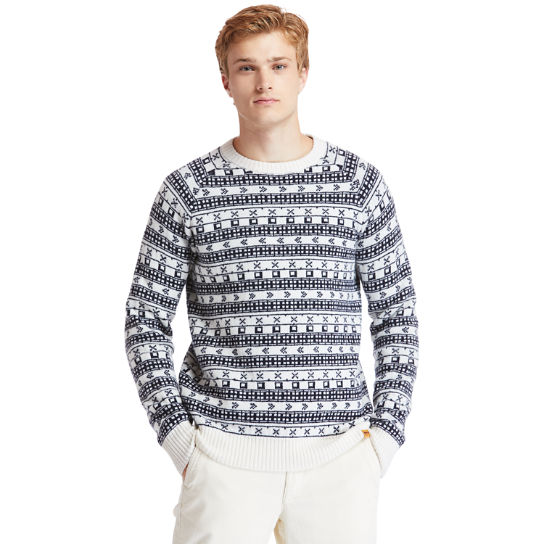 Fair Isle Sweater for Men in Beige | Timberland