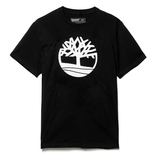 Kennebec River Tree T-Shirt for Men in Black | Timberland