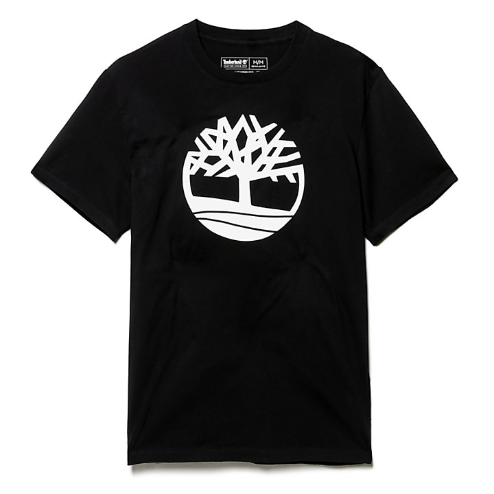 Kennebec River Tree T-Shirt for Men in Black-